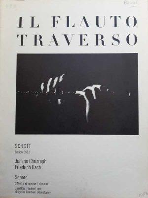 Sonate d-moll, Querflöte (Violine) und obligates Cembalo (Pianoforte)